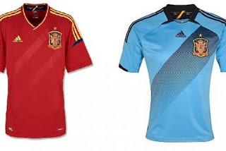 Kostum Spanyol Euro 2012