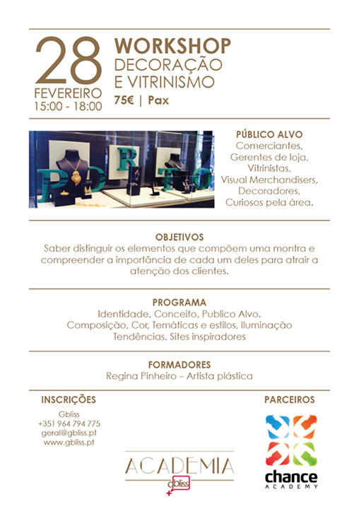 Workshop de decoração e vitrinismo no Porto