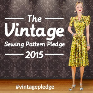 Vintage Sewing Pattern Pledge 2015