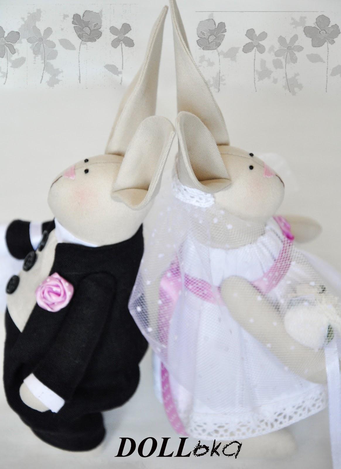 Свадебные зайцы ручной работы