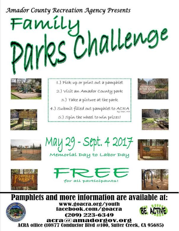 Family Parks Challenge 2017 ~ May 29-Sept 4