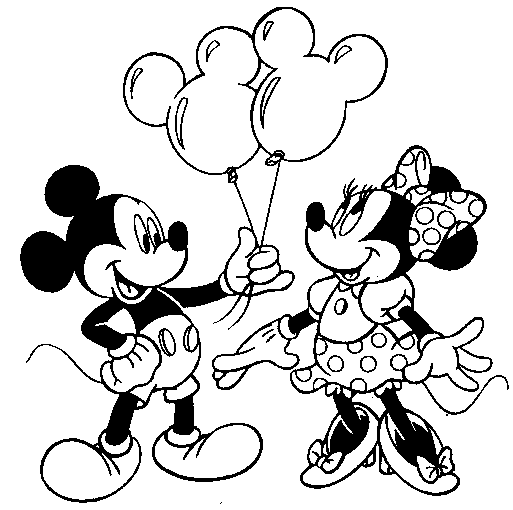 Valentine Day Mickey Mouse Coloring Pages Printable