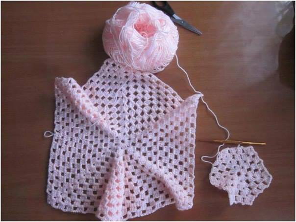 Crochet Patterns to Try: Crochet Granny Square Style Baby Cardigan ...