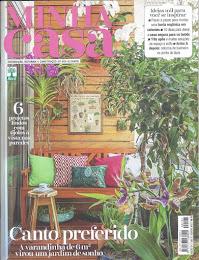 .Olha mais uma varanda minha na capa da Revista MINHA CASA...Agosto 2018...