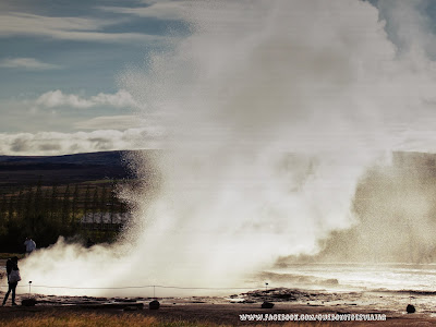 Geiser Strokkur en Islandia