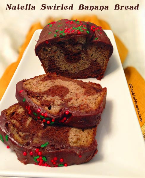 Nutella- Swirled Banana Bread Recipe — Dishmaps