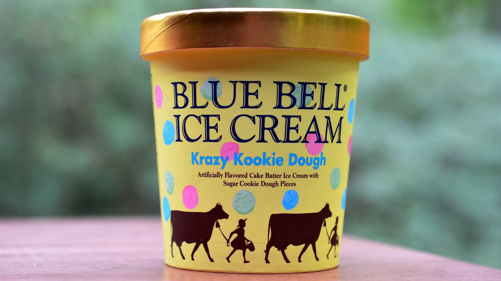 food and ice cream recipes REVIEW Blue Bell Krazy Kookie Dough