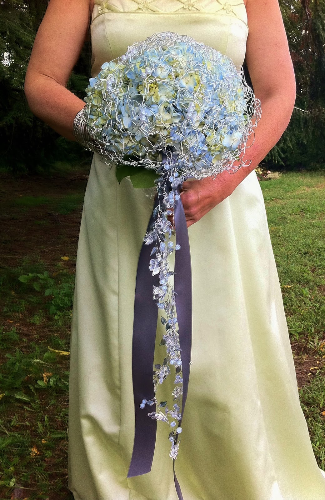 Silvered Blue Hydrangea Bouquet By Stein Your Florist Co