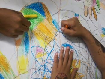 Mãos que pintam...