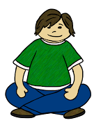 Here is a FREEBIE of a boy sitting crisscross applesauce on the floor: