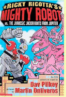bookcover of Ricky Ricotta's Mighty Robot vs. The Jurassic Jackrabbits From Jupiter by Dav Pilkey