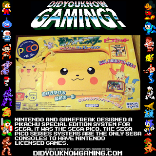pikachu sega pico fact Random Game Facts   Pikachu Sega Pico