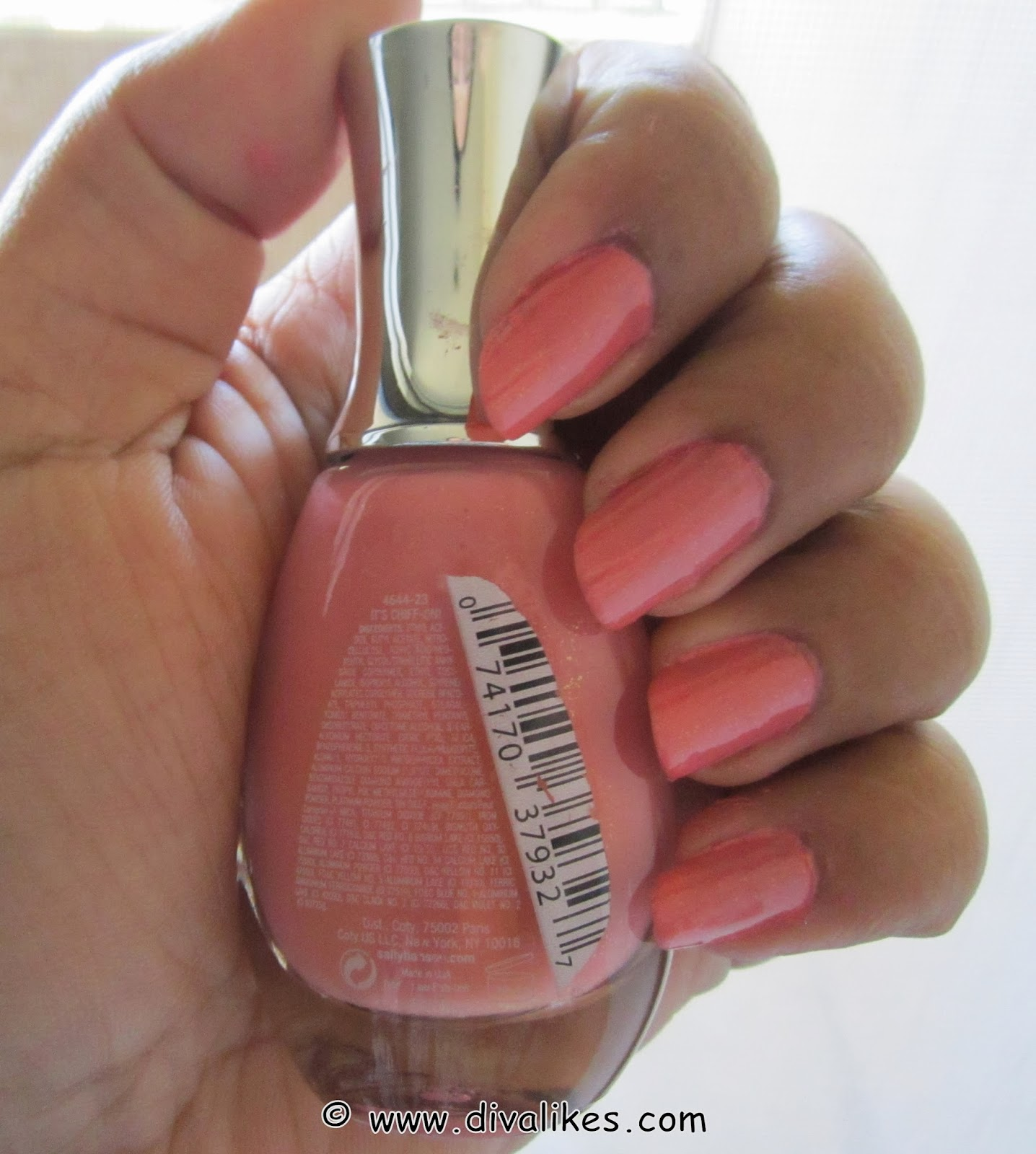 Sally Hansen Diamond Strength No Chip Nail Color In It\'s Chiff-on ...