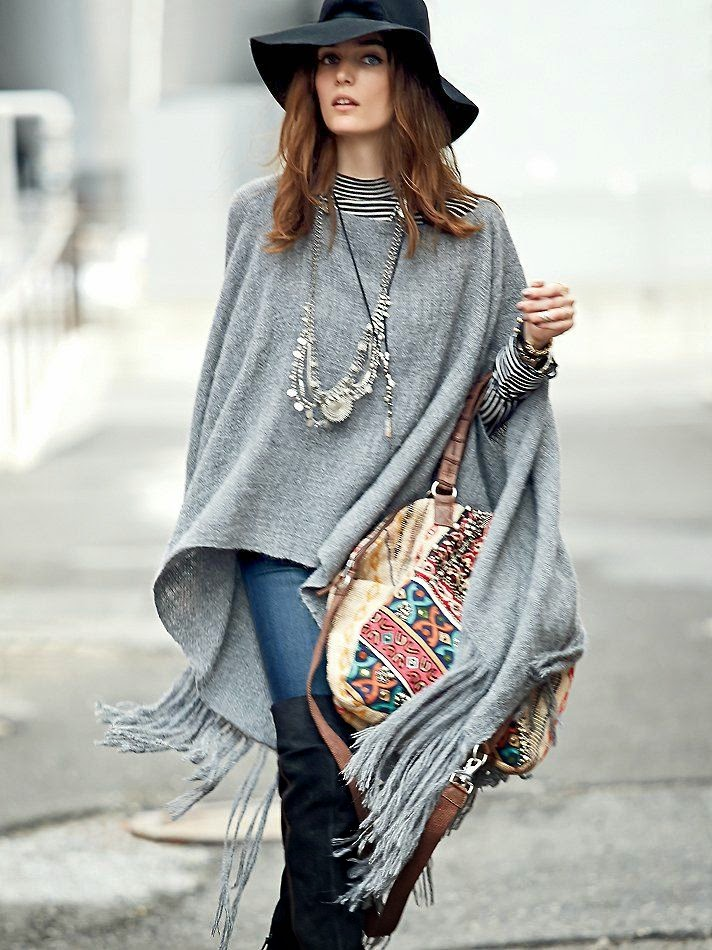 fall ponchos
