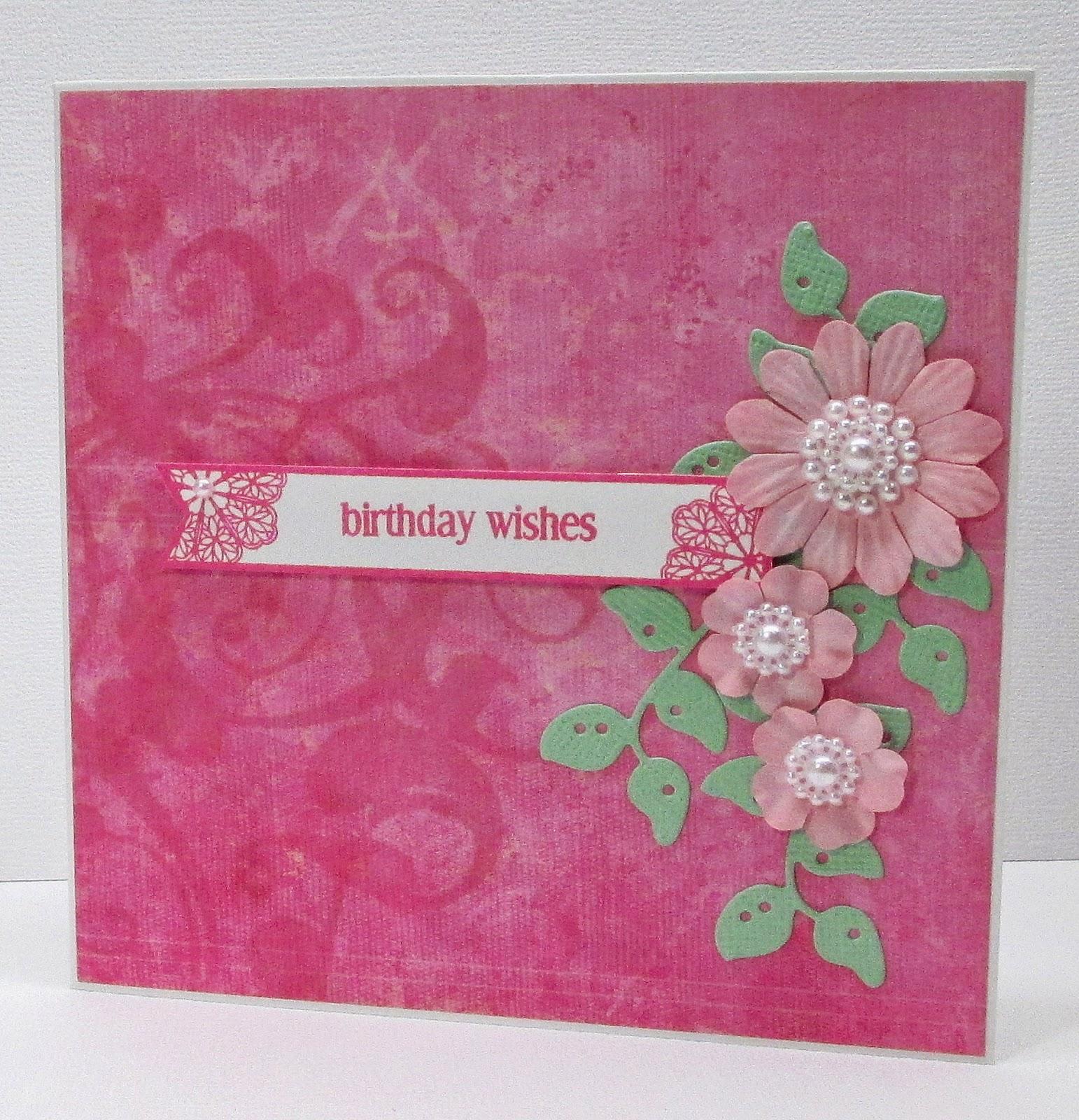Jenfa Cards: Pink Birthday Wishes