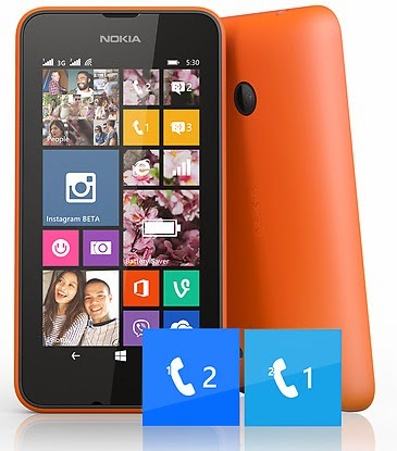 Nokia Lumia 530 Dual SIM Windows Phone Murah Rp Sejutaan