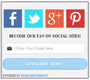 Beautifull Social Widget For Blogger