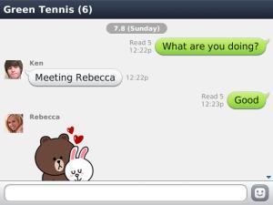 Line Messenger Application BlackBerry