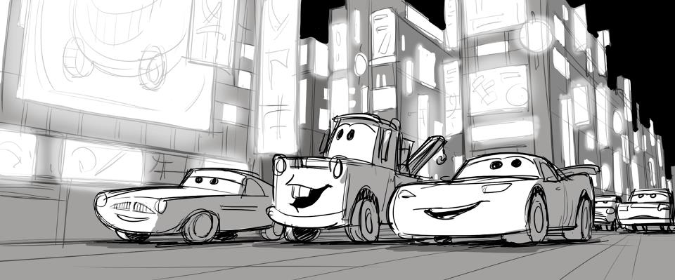 Animation Pitstop: Cars 2 | Animation Progression | storyboard to ...