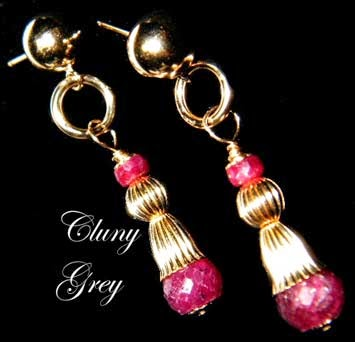 gold ruby earrings