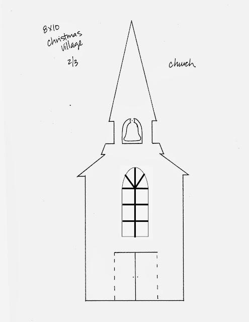 Christmas Paper Village Templates