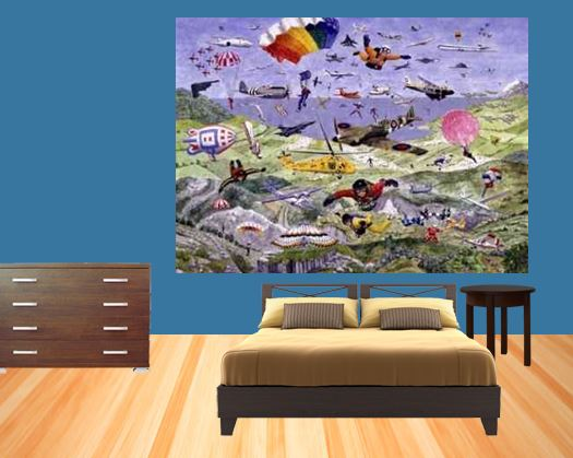 Theme bedrooms for Aviation wall mural