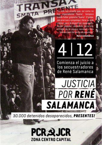 Justicia por René Salamanca y 30 mil detenidos desaparecidos
