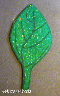 The Finished Project - Felt Leaves