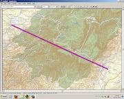 . pista do Aeroporto de Beja (dados. ASTER) No segundo mapa (dados SRTM) o . (aster mapsource se )
