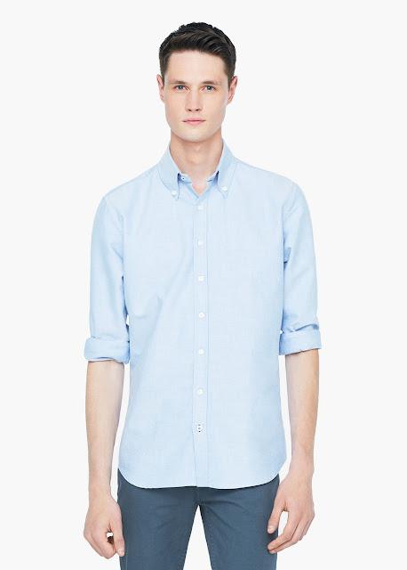mango chemise bleu ciel