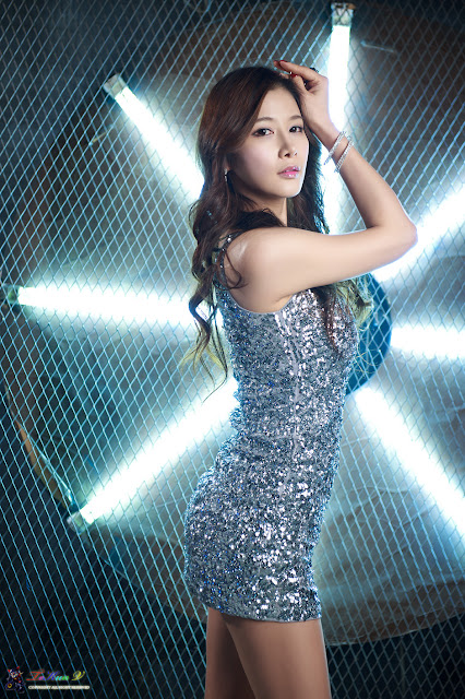 Hwang Ga Hi - Silver Mini Dress Photoshoot