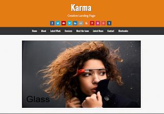 Karma Landing Page Blogger Template