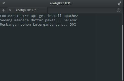 Instal Apache di Elementary / Ubuntu