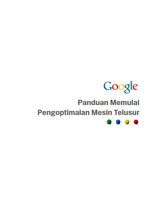 Cover Buku Panduan Memulai Pengoptimalan Mesin Pencari dari Google