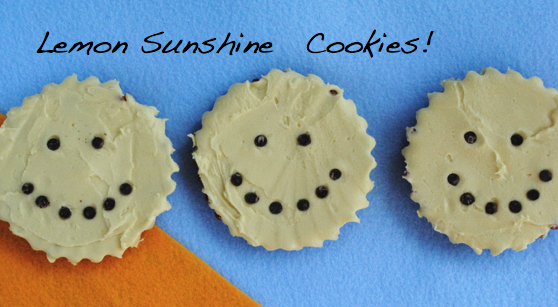 , and in my head, I came up with these fun Lemon Sunshine Cookies ...
