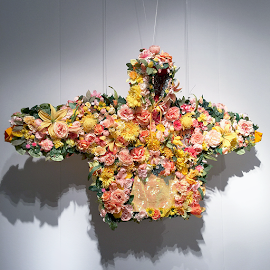 "Devan Shimoyama ""February II, 2019"" hoodie flower art"