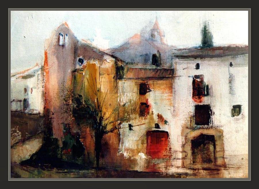 MAESTRAZGO-PINTURA-ESPAÑA-PAISAJES-MAESTRAT-TERUEL-CASTELLÓ-PINTURAS-PUEBLOS-PAISATGES-POBLES-CUADROS-ART-ARTE-PINTOR-ERNEST DESCALS-