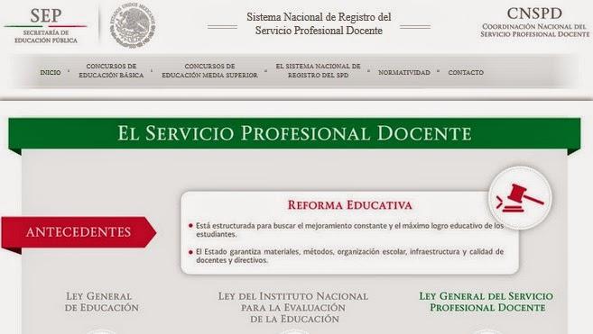 Convocatoria nacional de ingreso al servicio profesional for Convocatoria plazas docentes