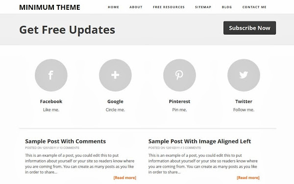 Minimum – A Responsive Blogger template