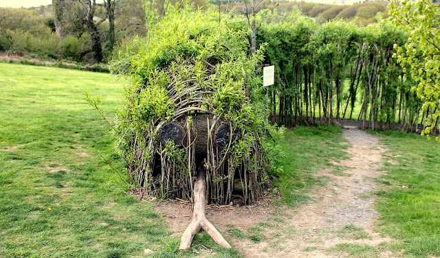 Snake made from Twig arch at Bluestone Wales