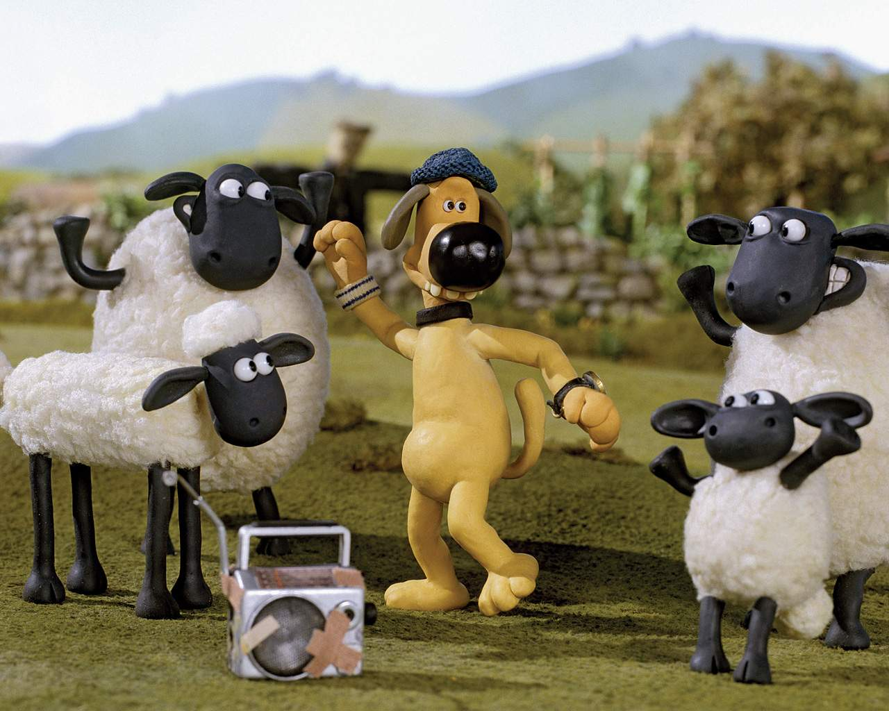 shaun si kambing, wallpaper shaun the sheep, foto shaun, kambing lucu