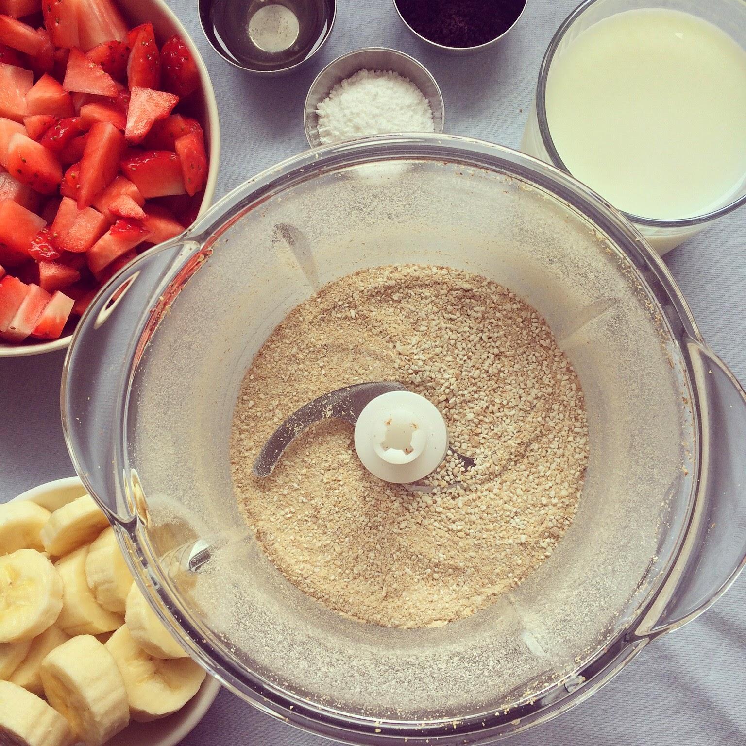 muffins açai sarrasin fraises