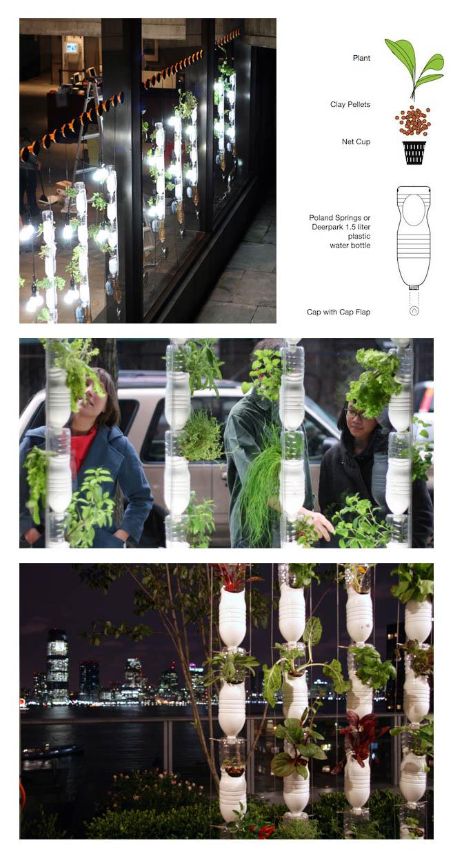 Ideas plastic bottle vertical garden for Bottle garden ideas
