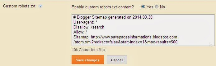 generate sitemap XML
