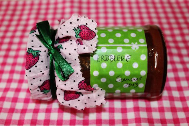 selbstgemachte Erdbeermarmelde