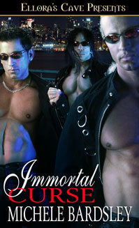 Immortal Curse is an erotic romance novella by Michele Bardsley, available now at Amazon and Barnes & Noble.