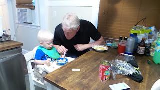 grandpa, babysitting