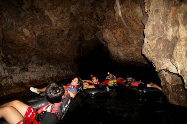 Suasana di Zona gelap di Goa Pindul