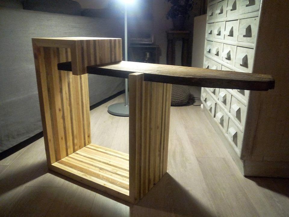 Mesa para la tv de dise o hecha con for Diseno muebles hechos palets