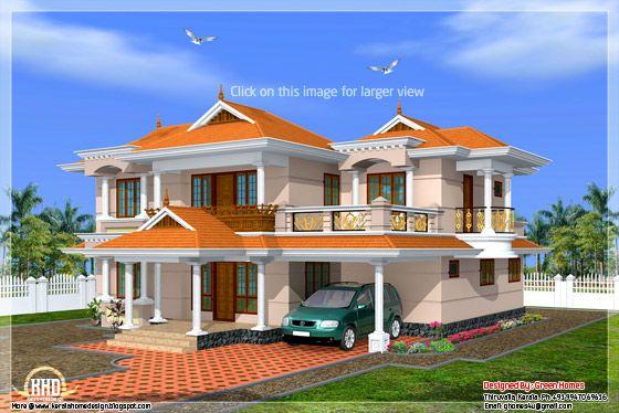 Kerala model home in 2700 for Kerala home model